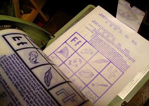 how to use a mimeograph machine